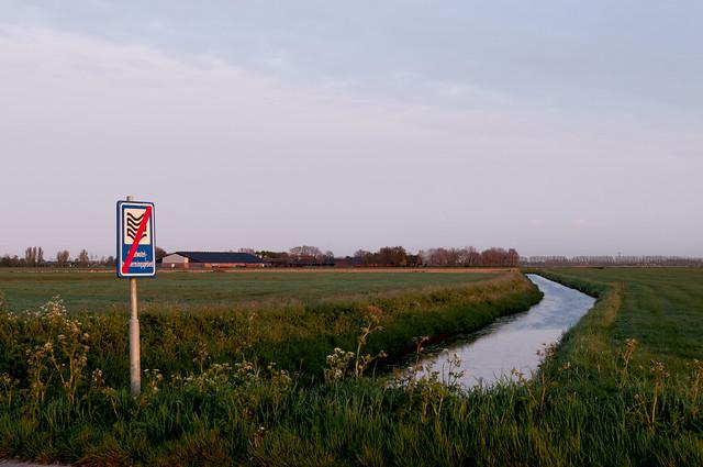 De polder van het Laagh Hemael, met aanduiding
