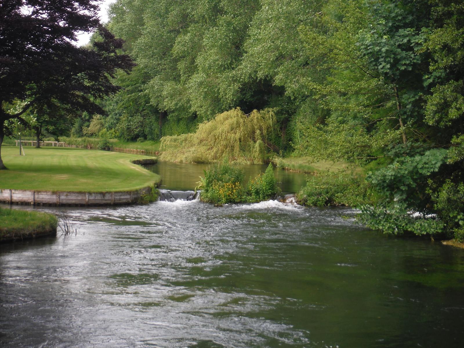 Park Stream arm of Test River, Lower Brook SWC Walk 265 - Dean to Mottisfont and Dunbridge