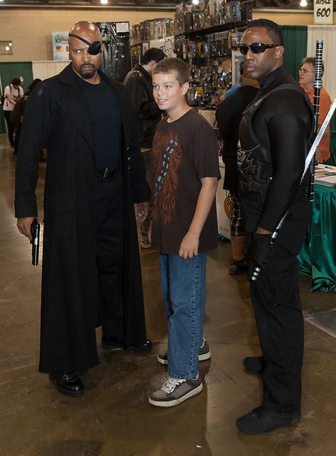 Blade, Nick Fury and Fan