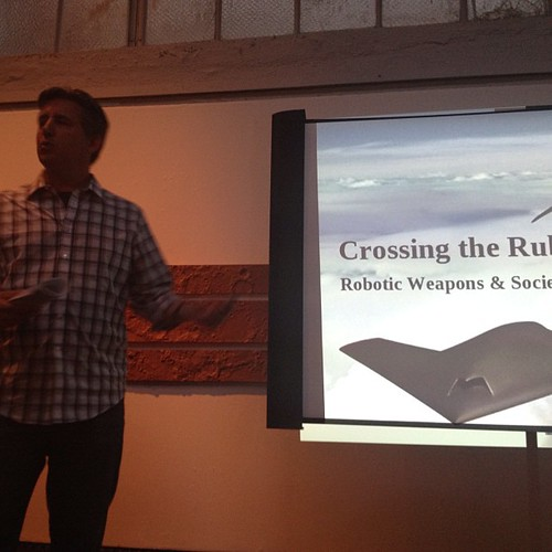 Author Daniel Suarez on autonomous combat robots @dorkbotsf | by k0re