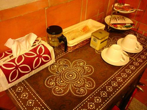 山后45號民宿(山后邀月)英式古典風客房提供的下午茶   by 金門國家公園