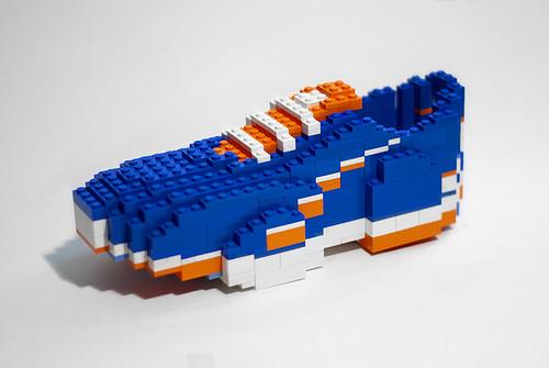 Blue LEGO shoe