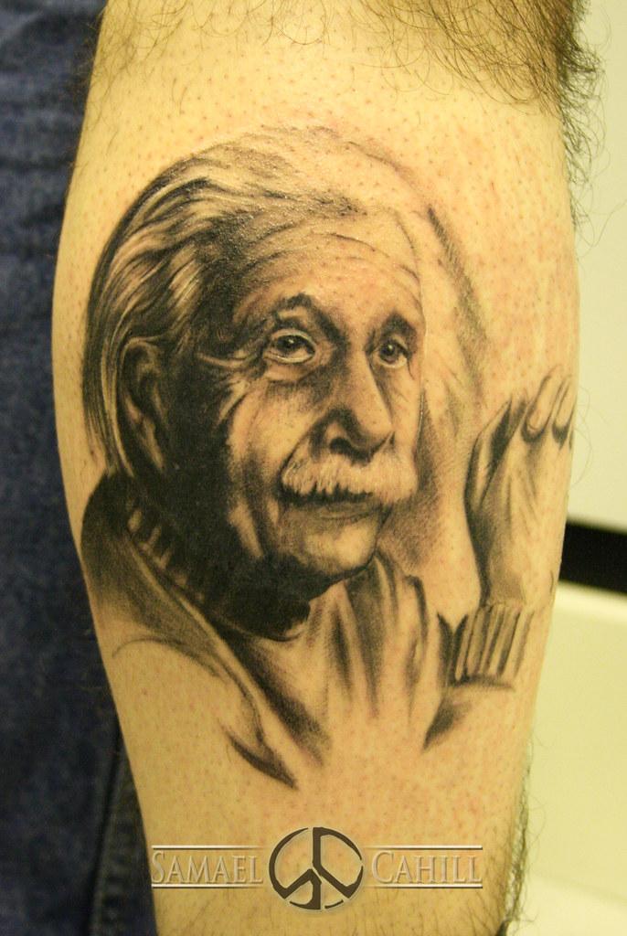 Albert Einstein Tattoo By Samael Cahill Samael Cahill Flickr