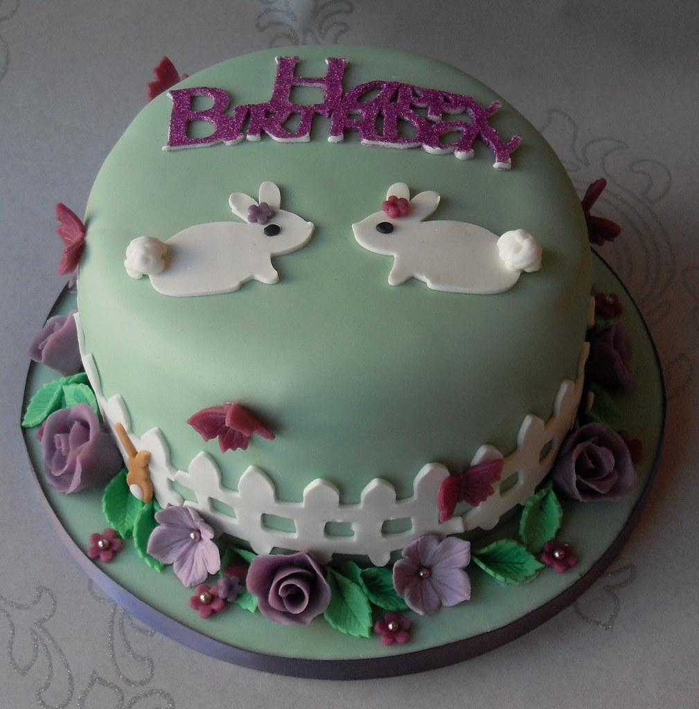 Rabbits Birthday Cake