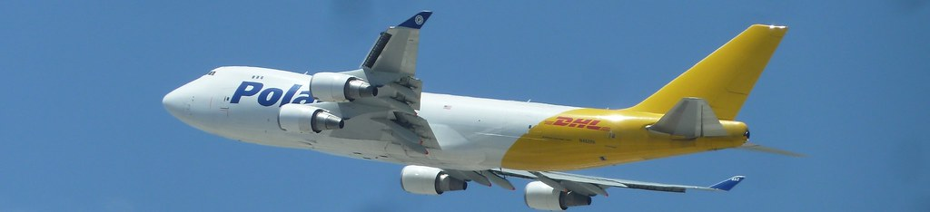 Polar DHL cargo jet N452PA Boeing 747-46NF seconds after t
