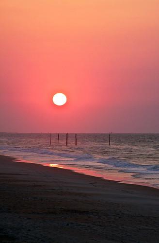 ocean sky cloud sun water clouds sunrise nc waves wave northcarolina atlantic atlanticocean 28135mm canoneos50d pronouncedtopsl topailbeach risinigmorning