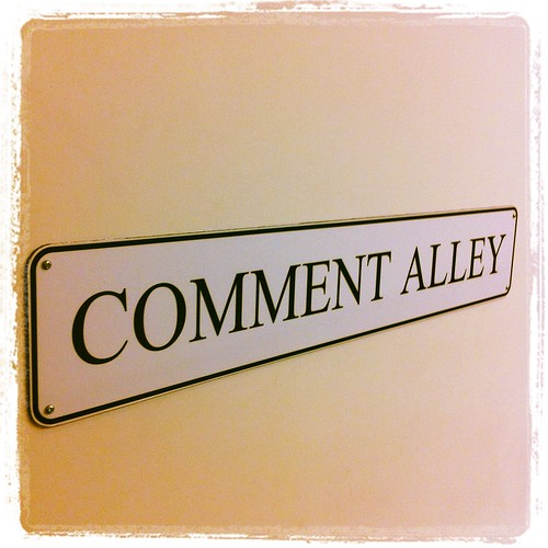 Comment Alley | by HowardLake