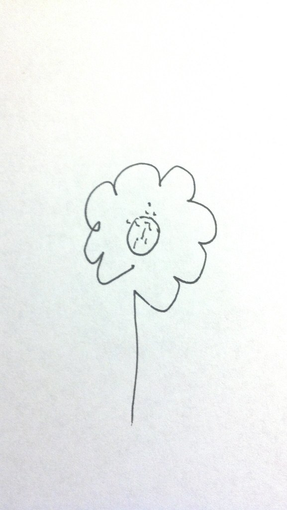 Draw A Flower With Your Eyes Closed