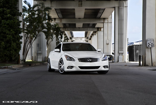 "Infiniti G37 on 20"" Concavo CW-S5 Matte Grey Machined Face. 20x9 & 20x10.5. 