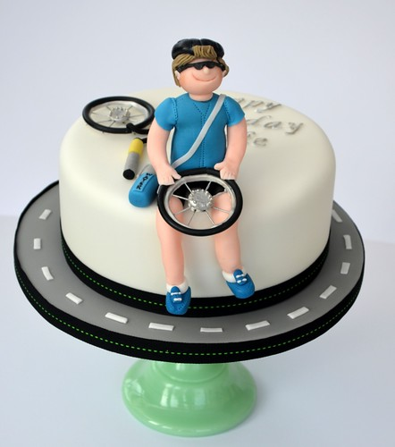 For a racing bicycle enthusiast | by Hilary Rose Cupcakes