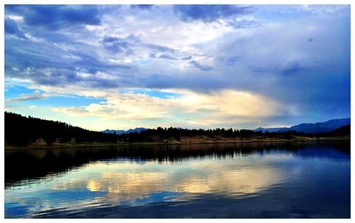 sunset lake mountains colorado echo canyon reservoir springs co pagosasprings pagosa