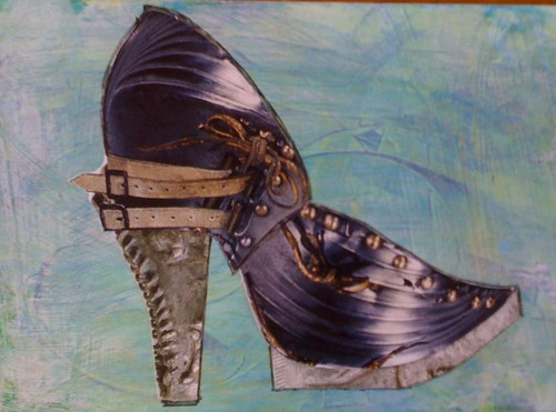 armored shoe
