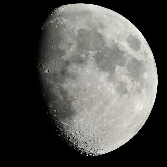 Neil Armstrong's new home. Nikon nikkor 400mm 3.5 tc300 tc201 tc 14 D800 moon shot 2