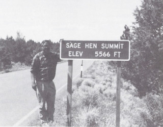 George Sayre '56 found the Sage Hen Summit in Montana in 1992 and sent a photo to Pomona College Today