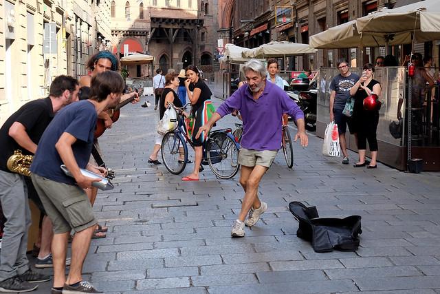 Bologna - Via degli Orefici (la strada del jazz)