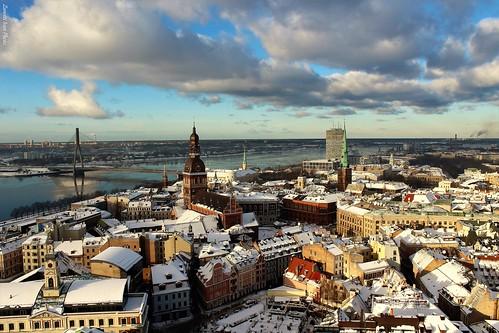 christmastree riga latvia lettonia baltic view panoramica natale white panorama vista paesaggio neve natalizio nevivatabianco landscape snow christmas wow winter frozen balticsea city