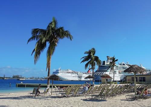 Bahamas (Nassau) Cruise ships at Nassau Port   by ustung