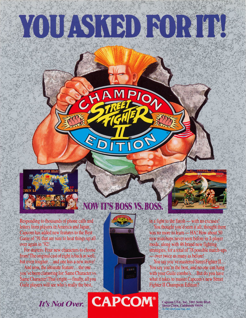 Street Fighter 2 Champion Edition Arcade Flyer An Advertis Flickr