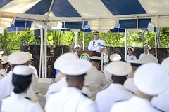 Adm. Scott Swift, commander of U.S. Pacific Fleet, delivers remarks during a Battle of Midway 74th anniversary commemoration ceremony June 7. (U.S. Navy/MC2 Brian Wilbur)