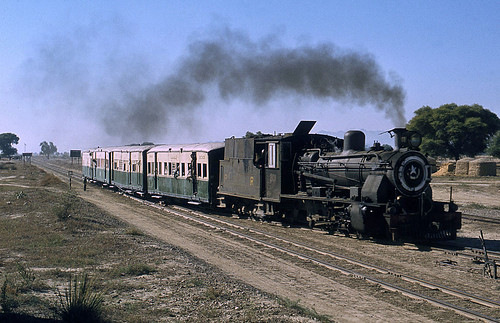rail railway railroad transport train transportation locomotive engine asia pakistan narrowgauge mariindus steam trag 262 zb bagnall passenger nwr northwesternrailway oilburner