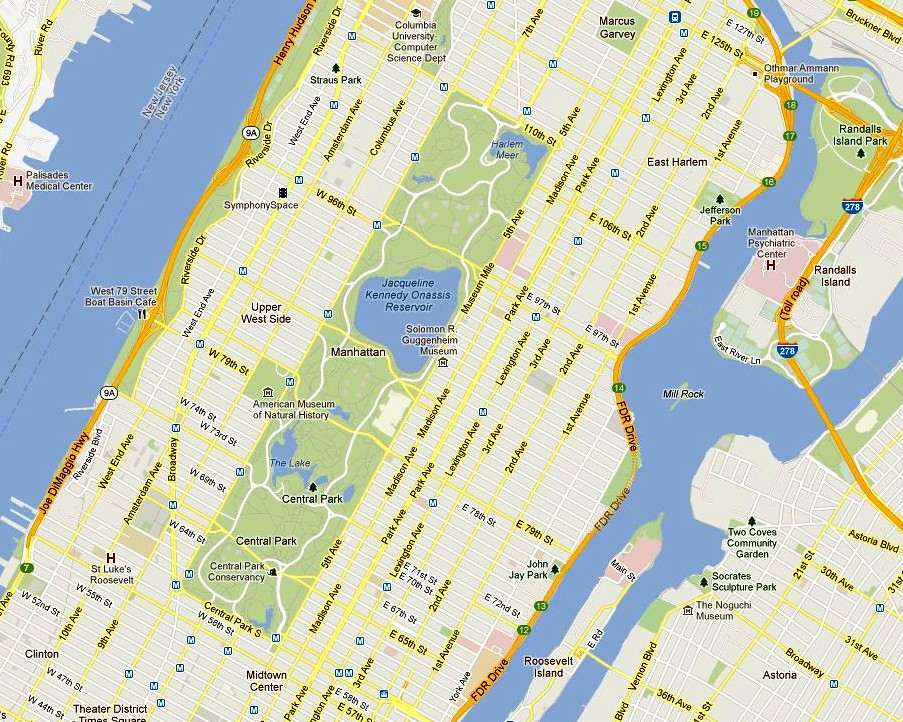 Google Map Of New York City.Central Park Map New York City Courtesy Of Google Maps Flickr