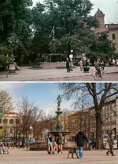 Gothenburg, Brunnsparken 1944 / 2012