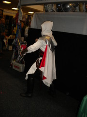 'Come and fight me if you dare, Templar!'  Ezio from Assassin's Creed Brotherhood