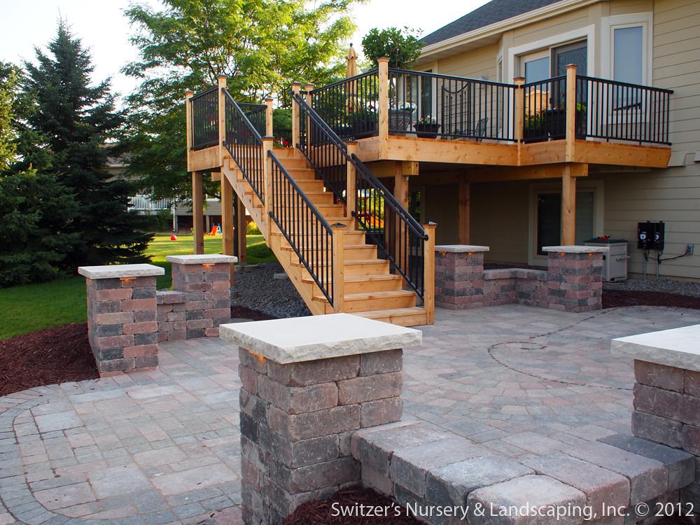 Deck & Patio ~ MN Backyard Ideas | Custom Designed ... on Backyard Deck Designs id=52934