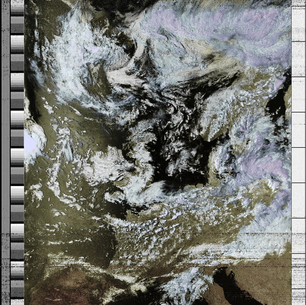 Weather satellite image received with RTL-SDR | Weather sate