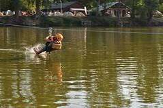2012. július 28. 18:06 - Tiszavölgy kalandtúra - 3. hétvége: Kötélhídról csobbantunk
