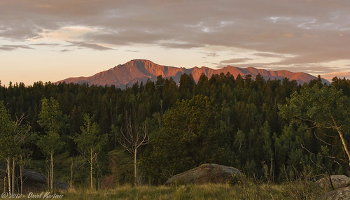 morning trees usa mountain rock clouds sunrise dawn colorado rocks peak coloradosprings pikes pikespeak