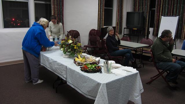 IMG_2931 Maxine flower arrangement food table