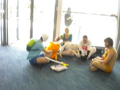 Finn, Fionna, Jake, Kate and some other people that I don't know.
