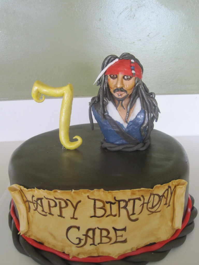 Cool Pirates Of The Caribbean Jack Sparrow Birthday Cake Flickr Funny Birthday Cards Online Aeocydamsfinfo