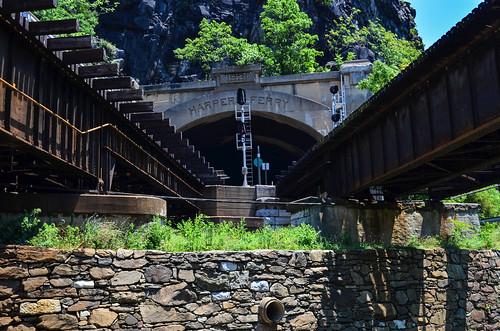 Harpers Ferry train bridge | by m01229