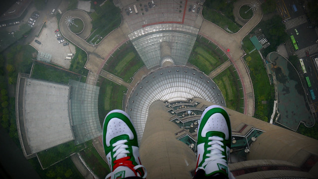 Glass Floor - Observation Deck of the Shanghai Pearl Tower