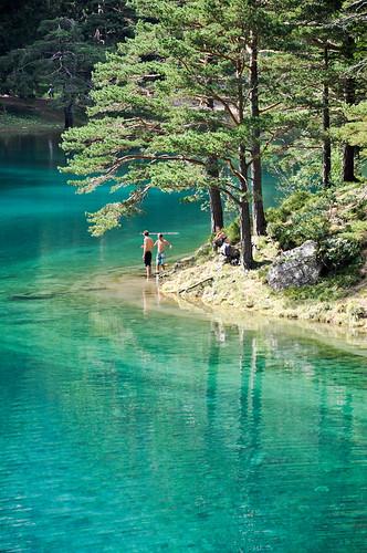wood travel summer lake alps green water forest austria see österreich nikon europe turquoise lakeside explore bathe steiermark styria sunbathe d90 grünersee