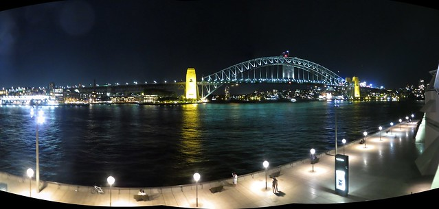 Sydney- Dawes Point and Harbour Bridge from Opera House at Beelebong Point