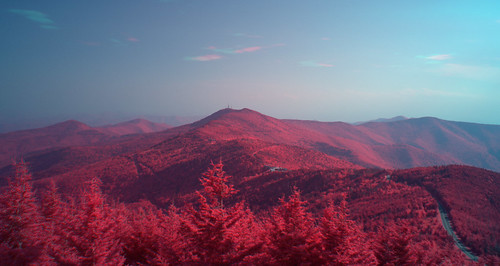 mountains landscape scenic northcarolina infrared