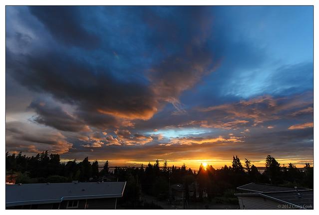 Sunset from the Deck (08-Jun-2012)