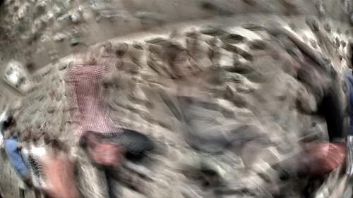 fermo immagine durante le riprese video di Speed up with Fantasyclimbing!
