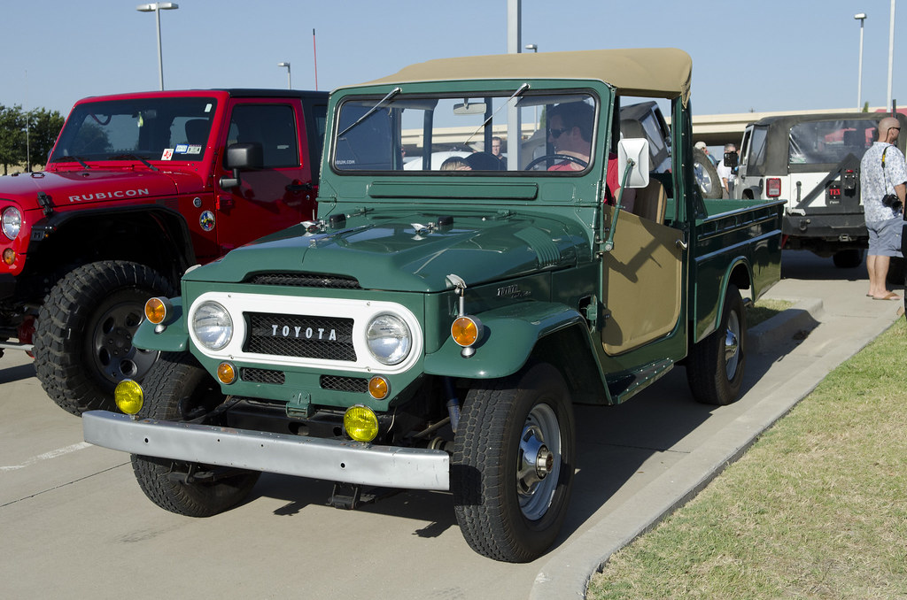 1966 Toyota FJ45 pickup | Dallas Cars and Coffee | Flickr