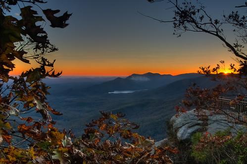 sunset mountains southcarolina pinnaclemountain nhm caesarshead ngm tablerockmountain herowinner npgm