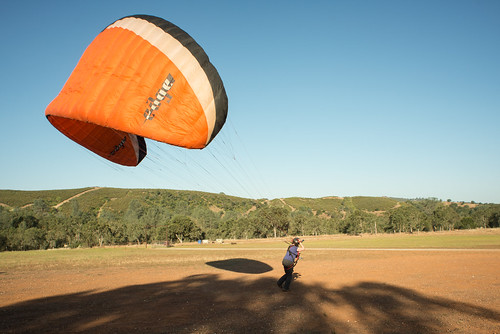Tara with Paragliding Wing, Being Towed | by goingslowly