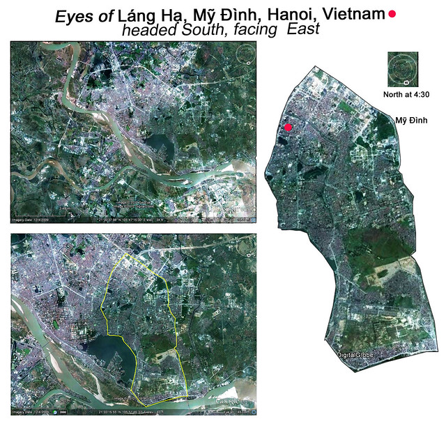Láng Hạ and Mỹ Đình, Hanoi Vietnam: Embedded Kings/Queens, headed South, facing East-West