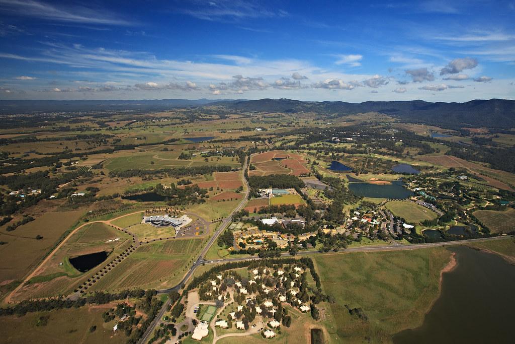 Image: Image: Aerial View of Pokolbin