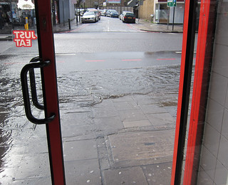 Pizza Gogo Pavement Flooding 25 April 2012 Read M