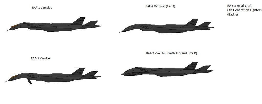 RA-Series Fighters | Multipurpose 6th Gen Strike-Fighter use