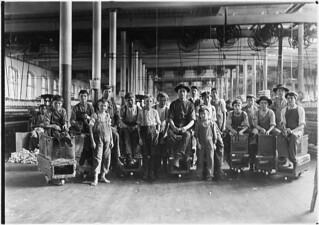 A few of the doffers and sweepers in the Mollahan Mills. Newberry, S.C., December 1908