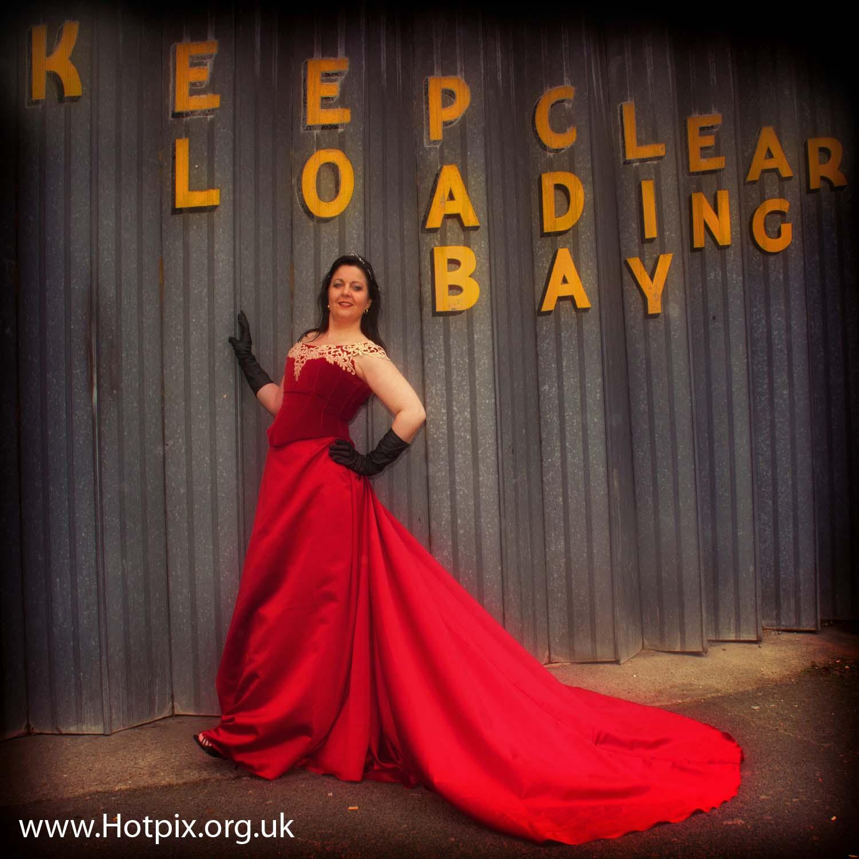 ipod,shuffle,ipodshuffle,red,dress,Bev,Sandbach,garage,loading,bay,yellow,Cheshire,England,UK,doors,metal,shoes,reddress,fashion,music,dressagency,agency